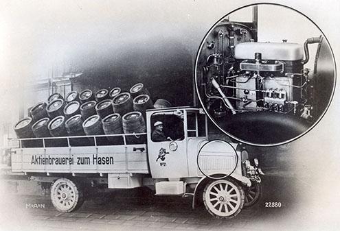 Primul camion de cu motor diesel și injecție directă a fost cumparat de o firma de bere