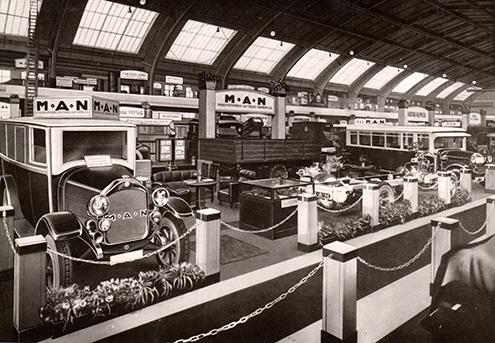 Standul MAN de la Salonul Auto de la Berlin din decembrie 1924