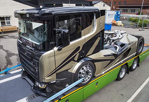 Scania Chimera poate fi vazută la mai multe manifestări dedicate șoferilor și pasionaților de camioane