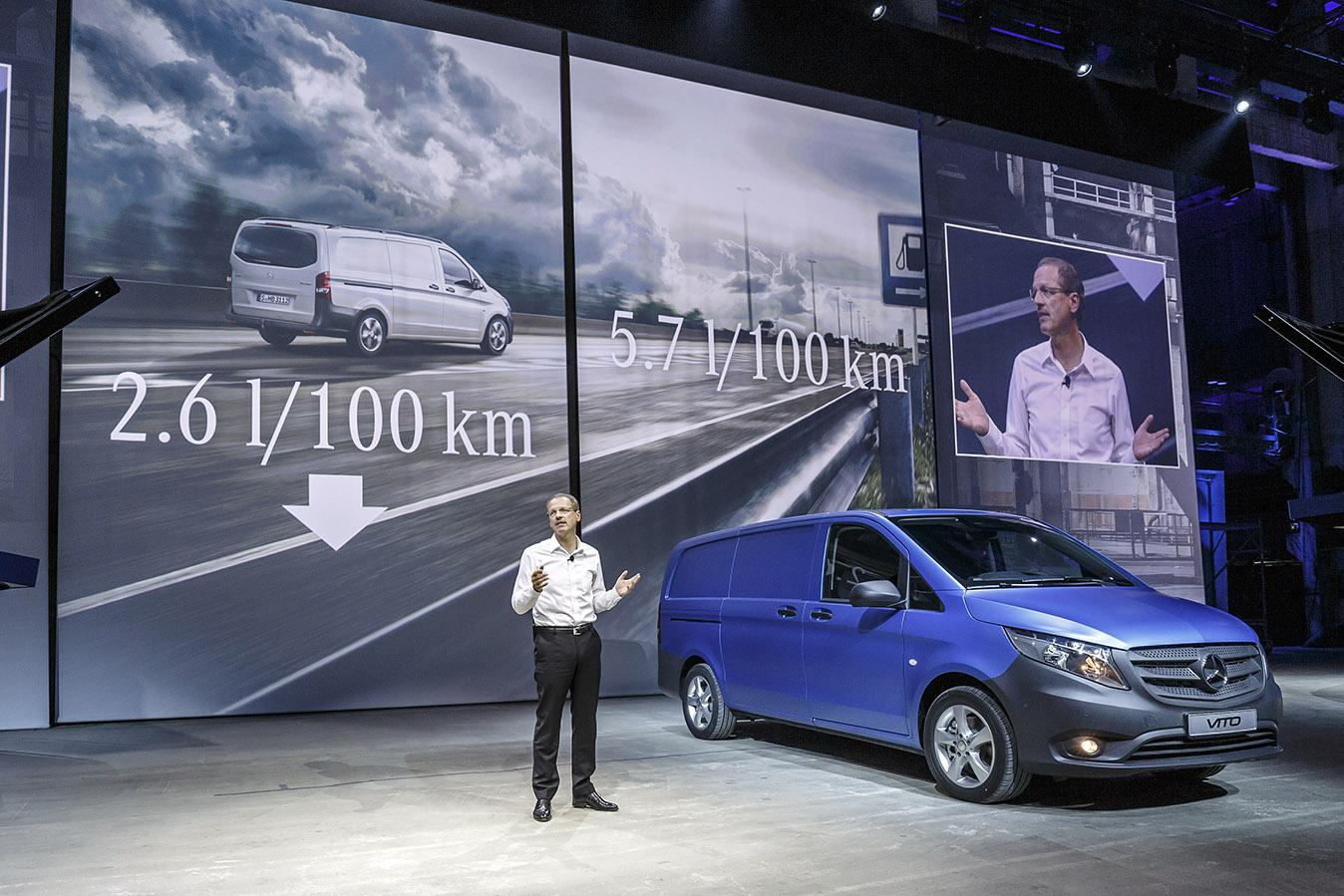 Consumul noului Mercedes Benz Vito cu 20 de procente mai mic decat al predecesorului