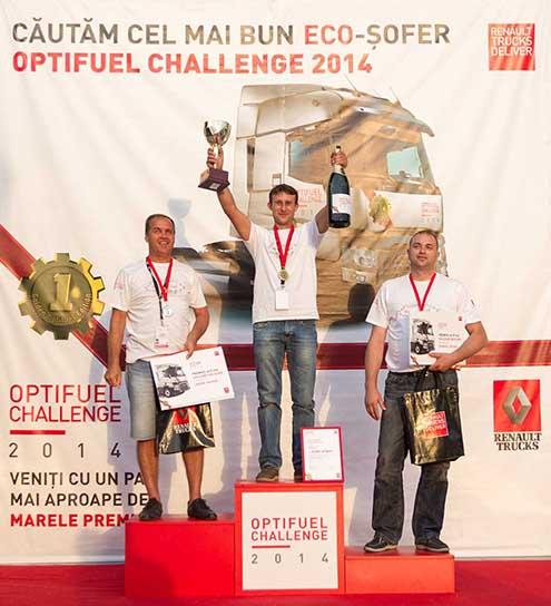 Florin Olteanu - câștigător Renault Trucks Optifuel Challange 2014 în România