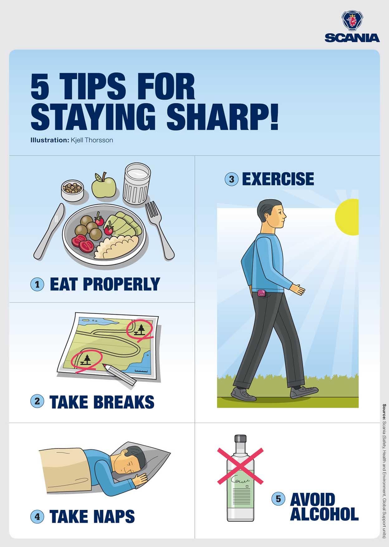 Cinci sfaturi pentru a te păstra în formă și alert la volan