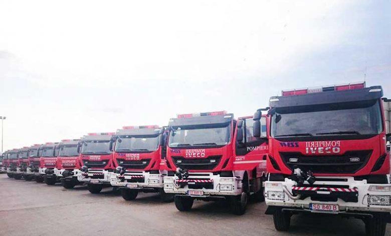IVECO a început livrarea celor 10 autospeciale de pompieri, către ISU