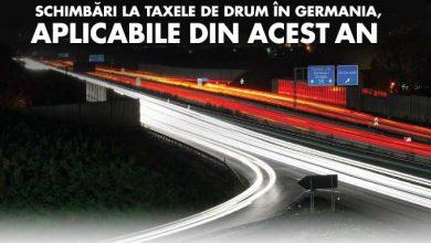 Schimbări la taxele de drum din Germania începând cu sfârșitul lui 2015