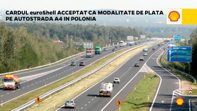 Cardul euroShell acceptat la plată pe A4 în Polonia