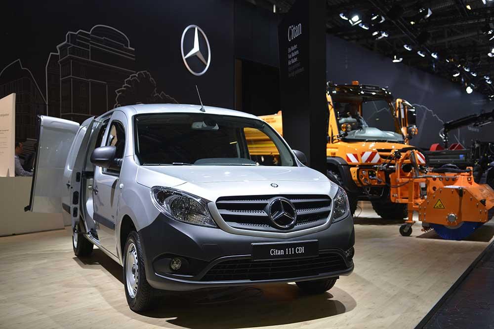 Mercedes-Benz Citan prezent în cadrul Bauma 2016