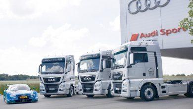 Opt camioane MAN TGX pentru Audi Sport