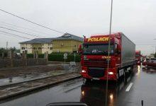 Sute de camioane au protestat astăzi împotriva prețului RCA