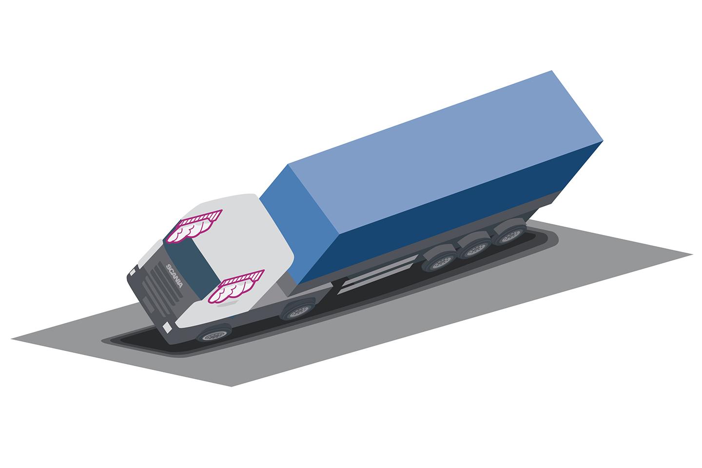 Scania introduce în premieră absolută airbag-urile tip cortină la camion