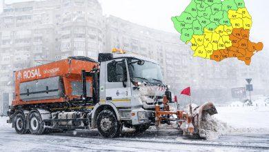 ANM anunță cod galben și portocaliu de ninsoare și viscol