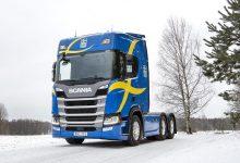 Noul Scania R500 intră în dotarea echipei de schi fond a Suediei