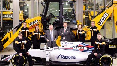 JCB prinde viteză alături de Williams Martini Racing