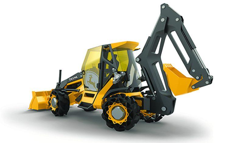 John Deere și o subsidiară BMW au dezvoltat buldoexcavatorul viitorului