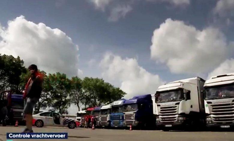 Control de proporții al belgienilor în parcarea de camioane din Zeebrugge