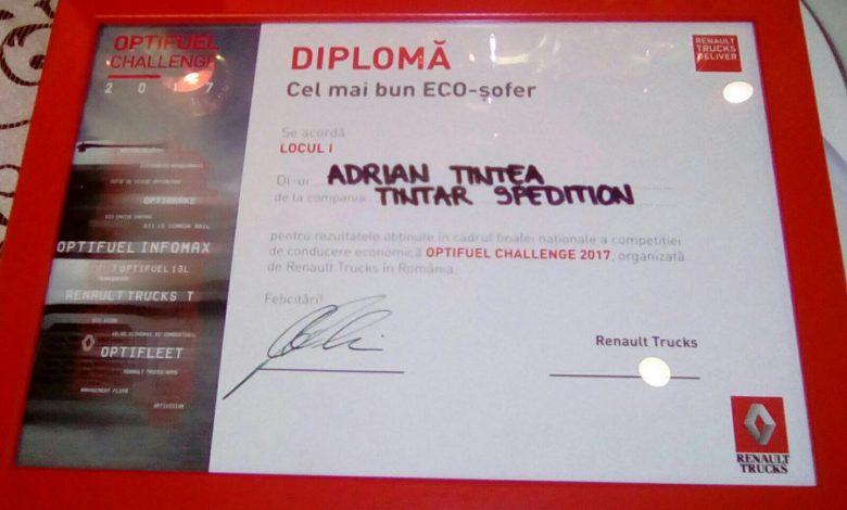 Adrian Ţintea a câştigat concursul Optifuel Challenge 2017