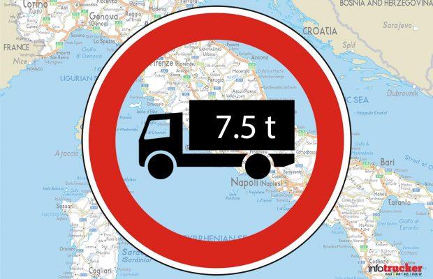 Circulația camioanelor restricționată în acest weekend în Italia