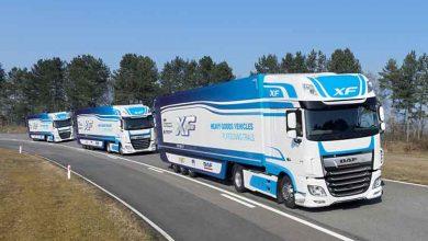 DAF participă în cadrul primului test de camioane conectate în convoi din Marea Britanie