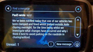 Camioane blocate în zona Kent pentru parcare ilegală pe timp de noapte