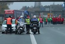 Acțiune sindicală de informare a șoferilor de camion străini în Franța