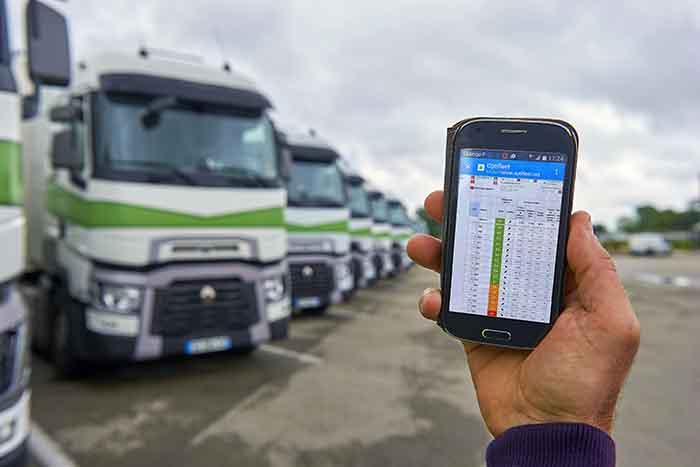 Renault Trucks a lansat aplicația mobilă Optifleet