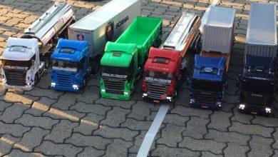 Colecția de camioane miniaturale ale brazilianului Andreson Ramos