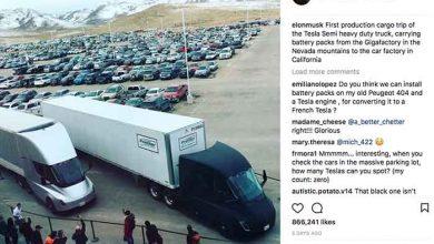 Tesla Semi a efectuat primul transport pentru linia de producție Tesla