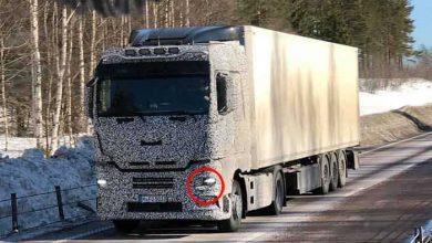 Camioane MAN camuflate surprinse în teste în nordul Europei