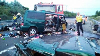 Microbuz înmatriculat în România implicat într-un grav accident de circulație în Ungaria