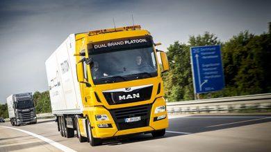 MAN și Scania au efectuat primul test comun de conectare a camioanelor în pluton