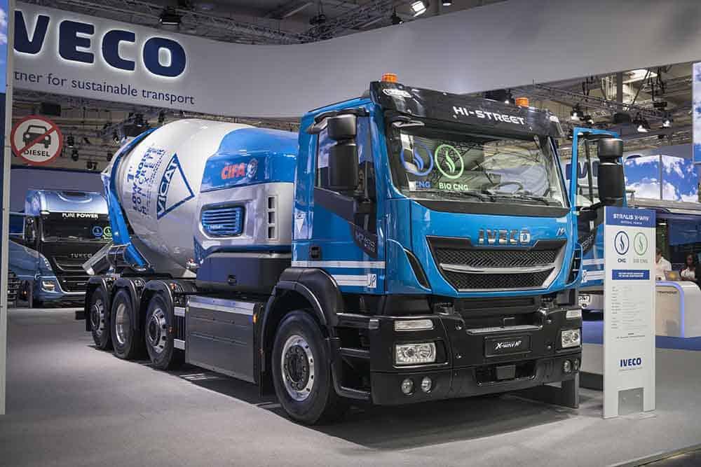 Transportul betonului cu emisii scăzute de CO2 și zgomot redus
