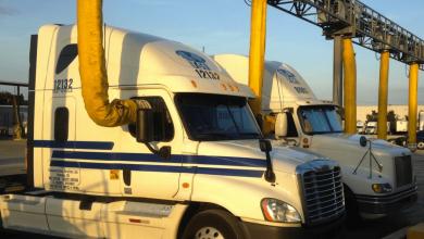 Parcări de camioane cu facilități pentru reducerea costurilor și a poluării