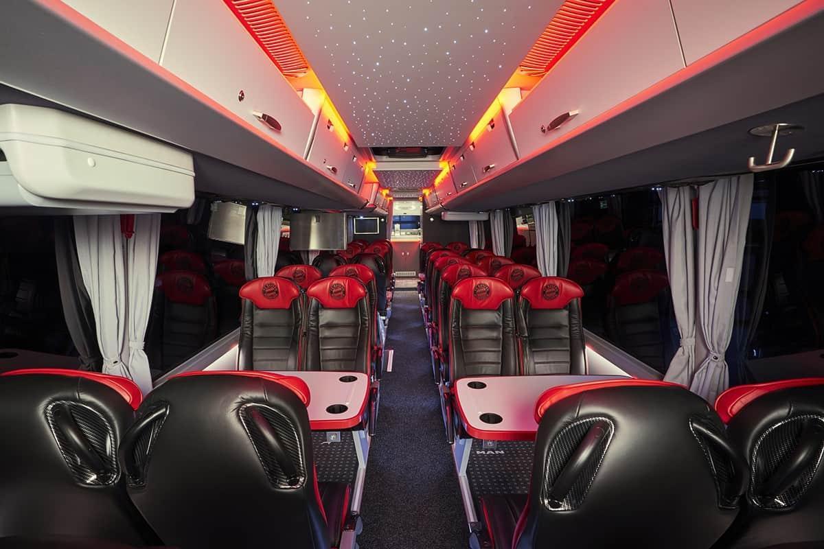 Echipa FC Bayern Munchen se deplasează cu un nou autocar MAN Lion's Coach L