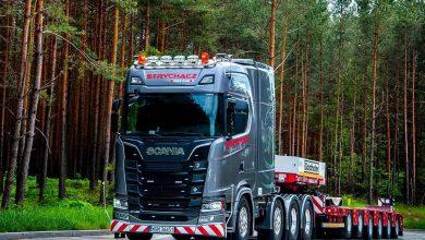 Primul camion Scania S 730 8x4/4 pentru transport agabaritic livrat în Polonia