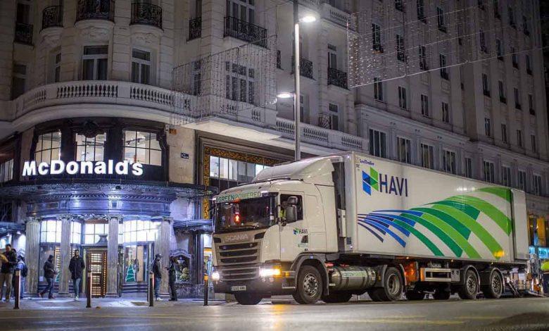 HAVI Spania reduce emisiile de CO2 din lanțul de aprovizionare McDonald's folosind camioane cu gaz
