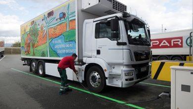 SPAR scade emisiile flotei cu ajutorul camionului electric MAN eTGM 26.360