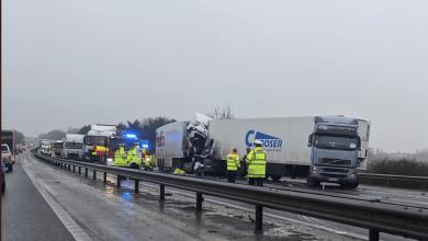 Accident în lanț pe autostrada M11 din Marea Britanie