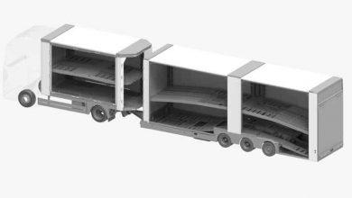 O nouă generație de semiremorci Kässbohrer dezvoltată pentru transportul autovehiculelor