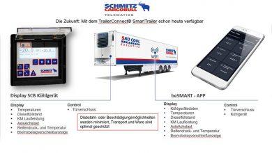 Sistemul telematic al lui Schmitz Cargobull a fost certificat GDP de către TÜV SÜD