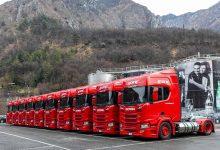 Apa minerală Sanpellegrino va fi transportată în camioane Scania R 410 cu gaz