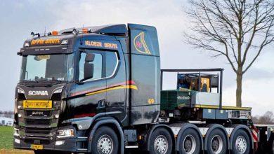 Olandezii de la Te Kloeze-Bruyl operează primul Scania S 730 V8 cu cinci axe