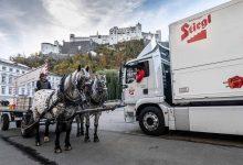 Producătorul austriac de bere Stiegl livrează în Salzburg cu un camion electric MAN TGM