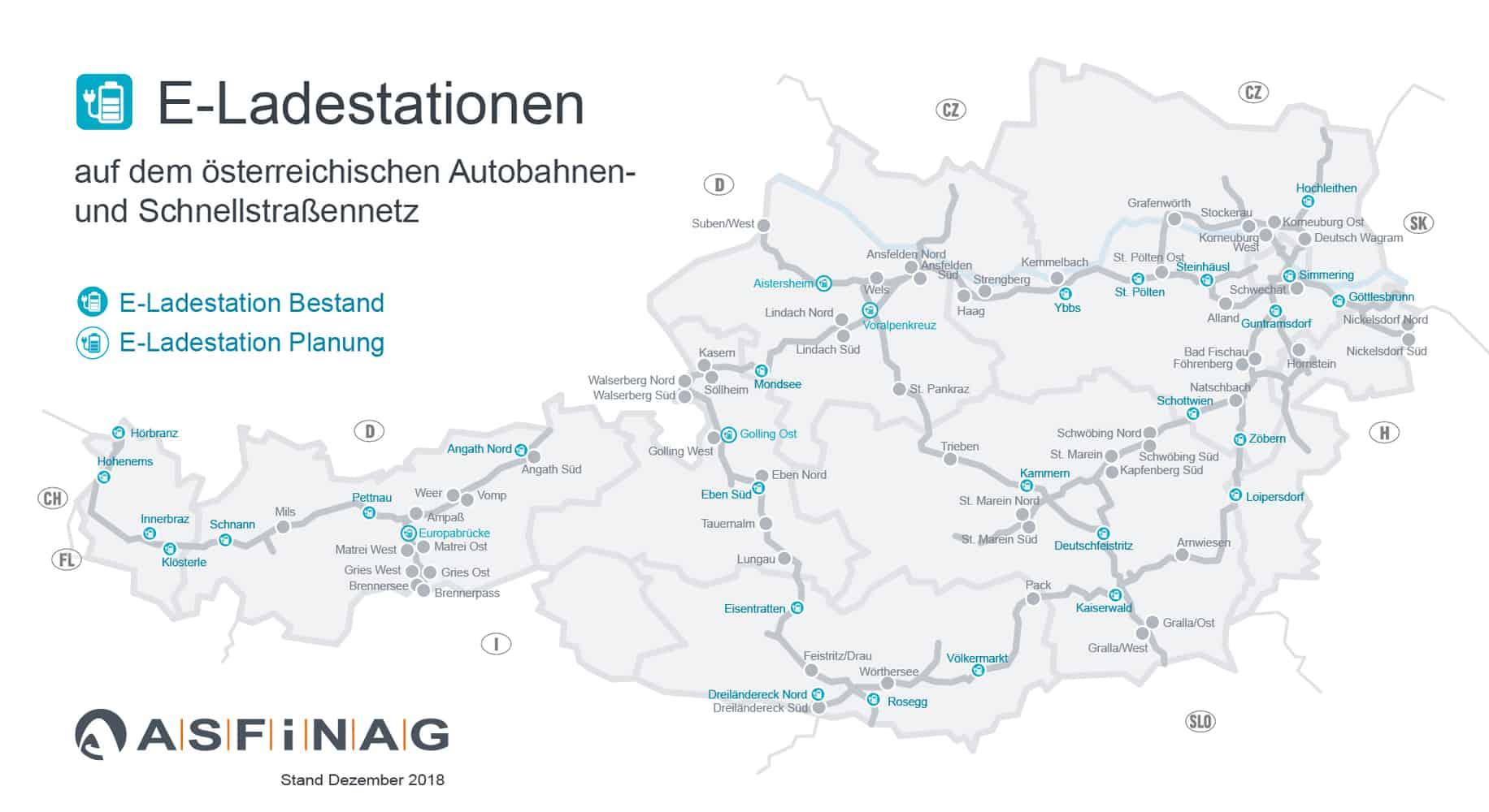 Prioritate pentru mobilitatea electrică pe autostrăzile din Austria