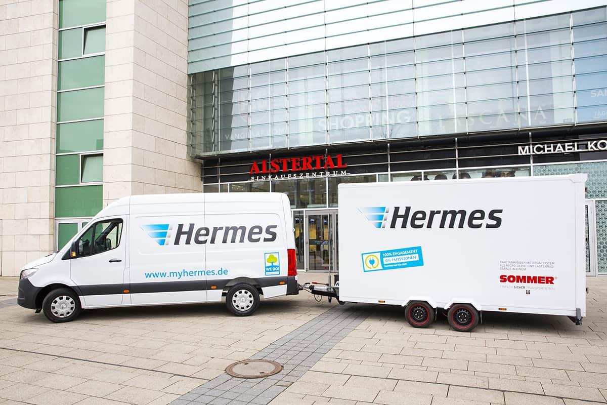 Hermes testează livrarea de marfă cu zero emisii în centrele aglomerate ale orașelor