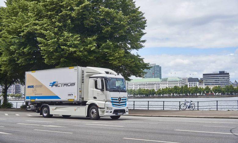 Grupul Nagel testează camionul electric Mercedes-Benz eActros