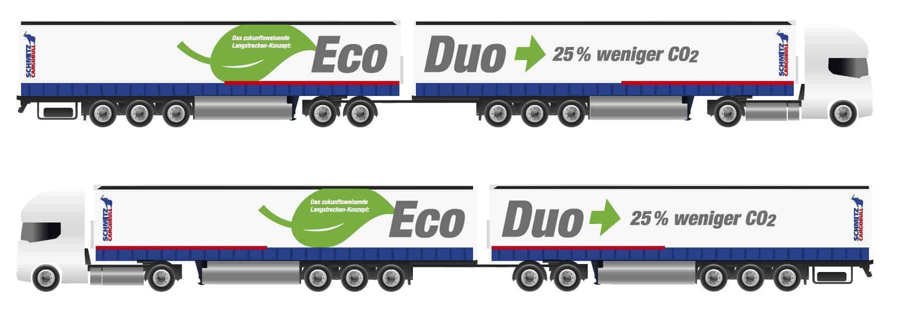 Conceptul EcoDuo al Schmitz Cargobull - combinație flexibilă de remorci pentru un transport eficient și ecologic