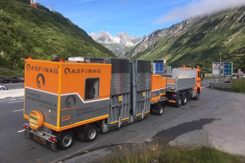 ASFINAG are o nouă unitate de control mobilă pentru verificarea tehnică a camioanelor din trafic