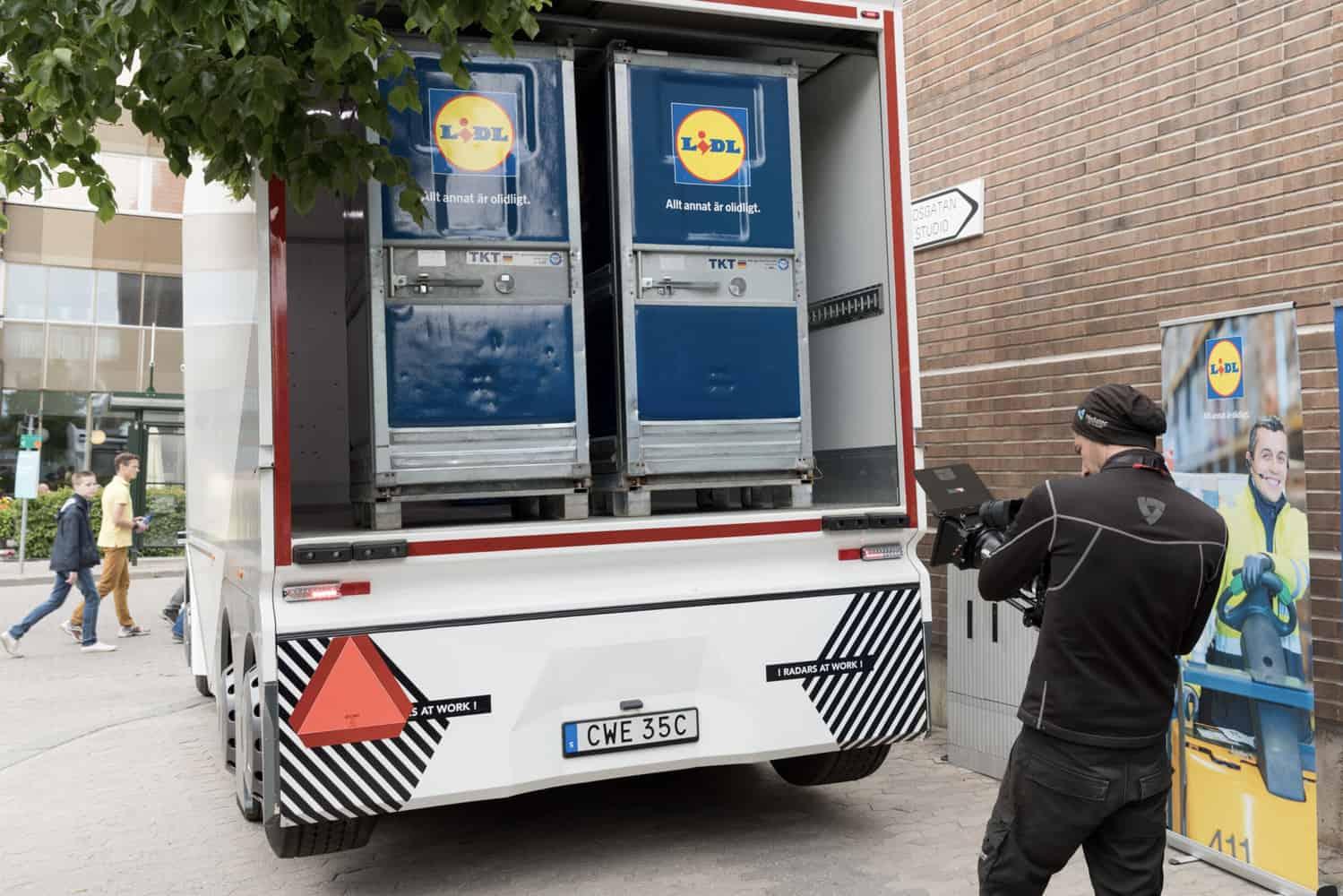 Einride a făcut o primă demonstrație urbană cu T-Pod în Stockholm