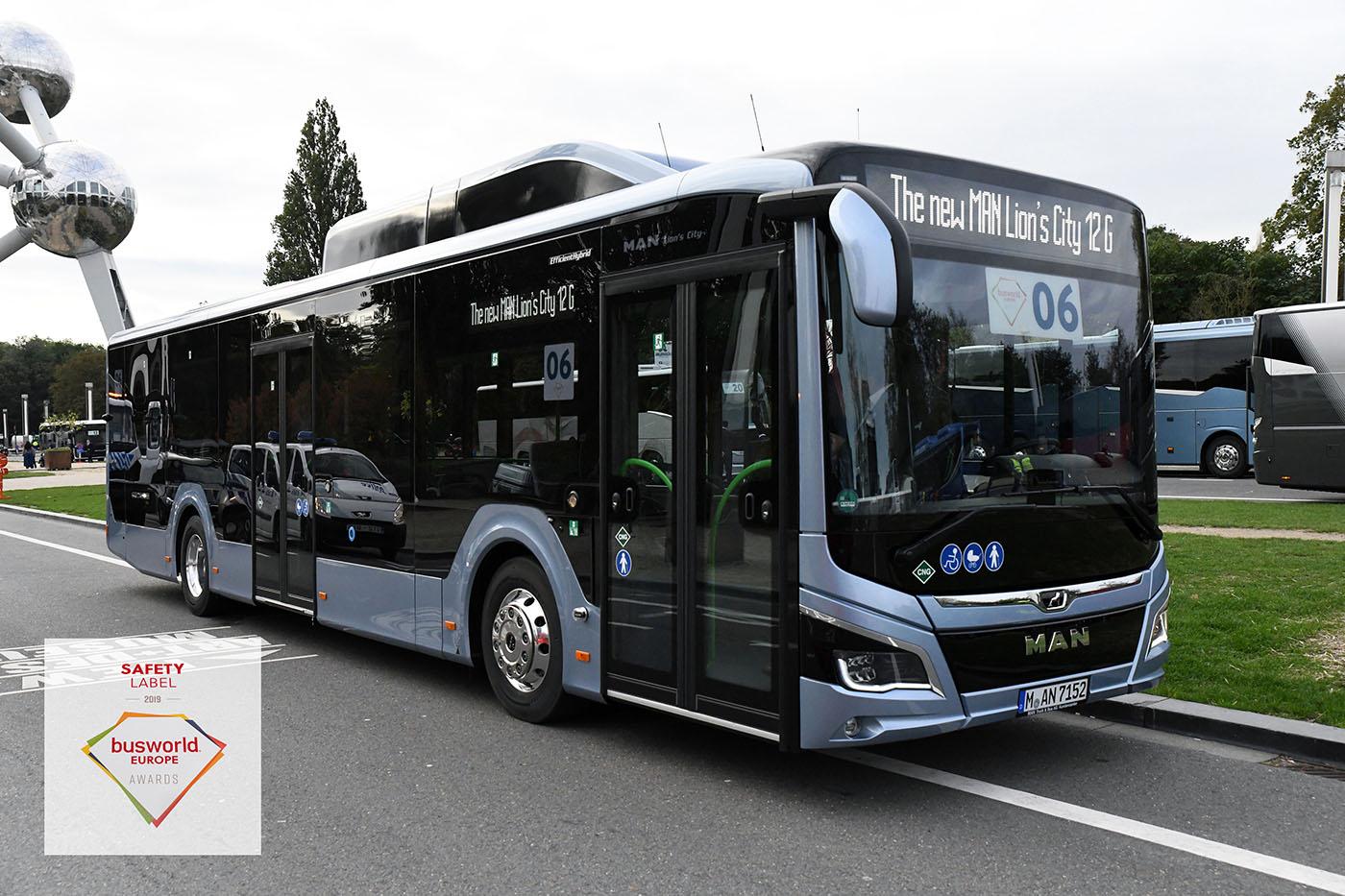 """MAN Lion's City G a primit premiul """"Safety Label Bus"""""""