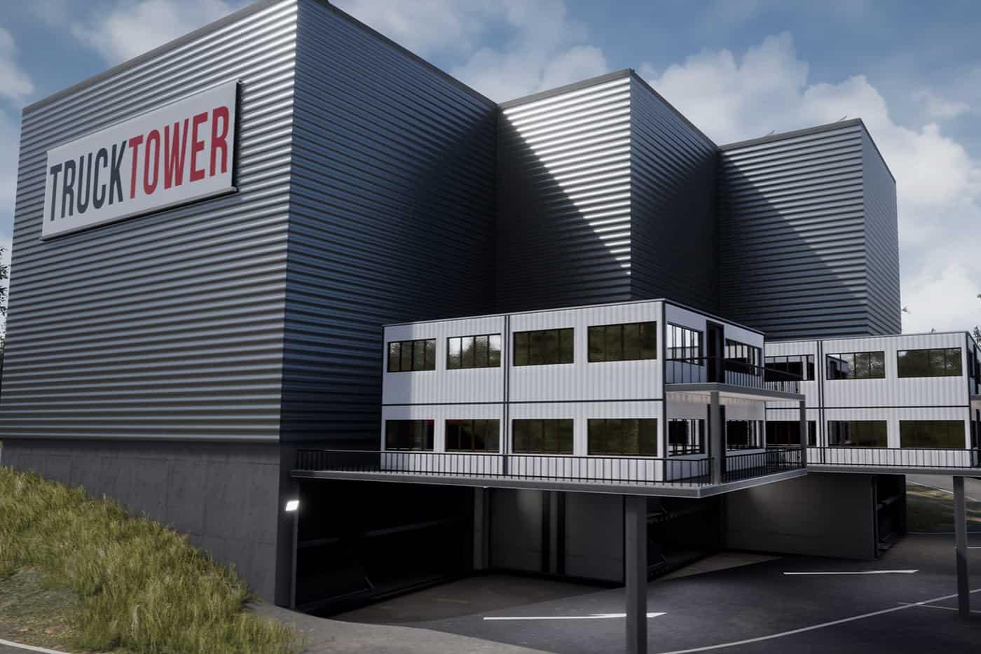 Truck Tower, un concept inovator de parcare pentru camioane (VIDEO)