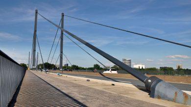 Restricții de trafic pentru camioane pe podul Theodor-Heuss din Düsseldorf
